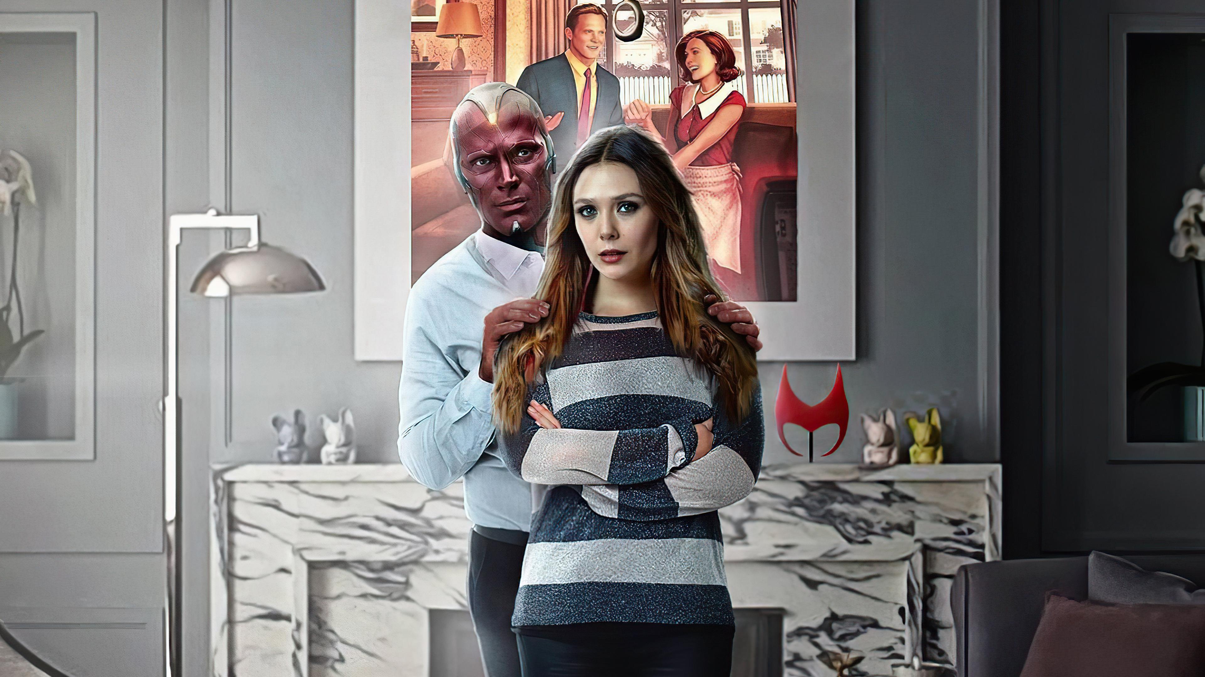 Wallpaper Wanda and Vision