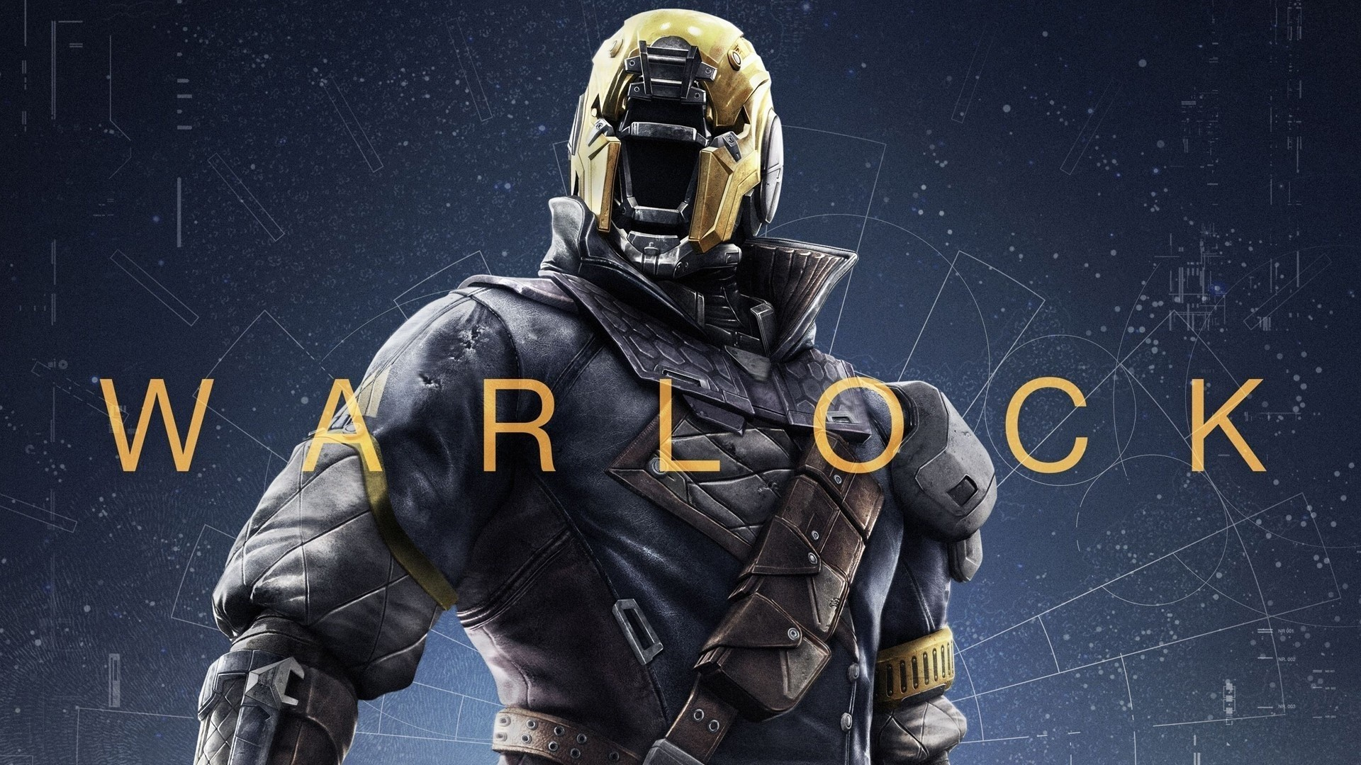 Wallpaper Warlock of the game Destiny