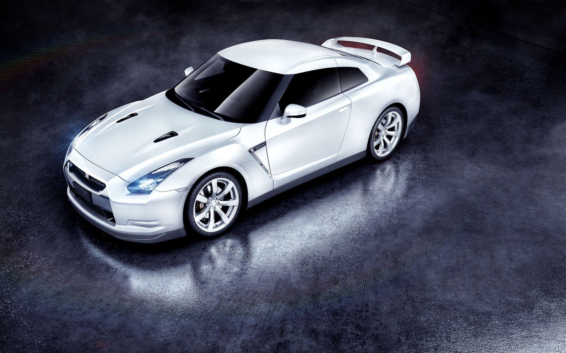 Wallpaper White Nissan GTR Images