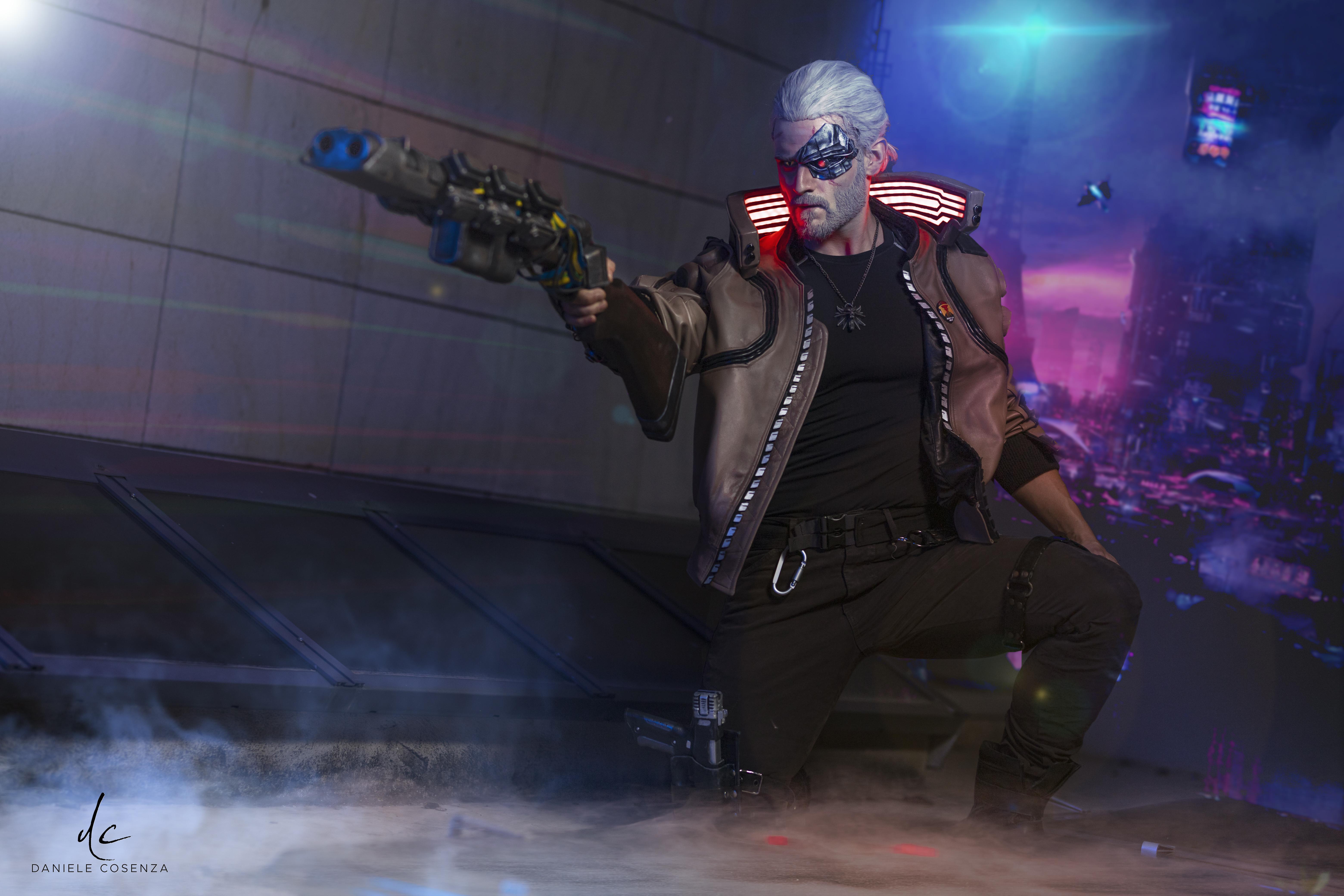 Fondos de pantalla Witcher de Cyberpunk 2077