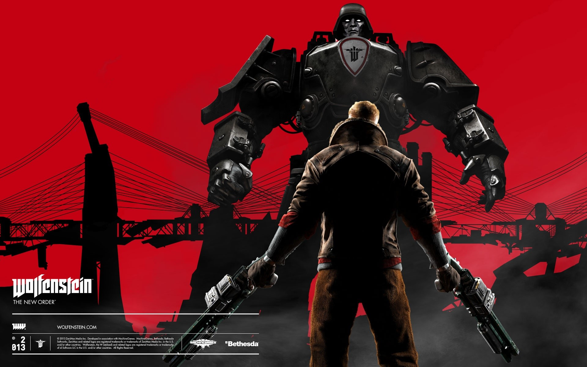 Wallpaper Wolfestein The New Order
