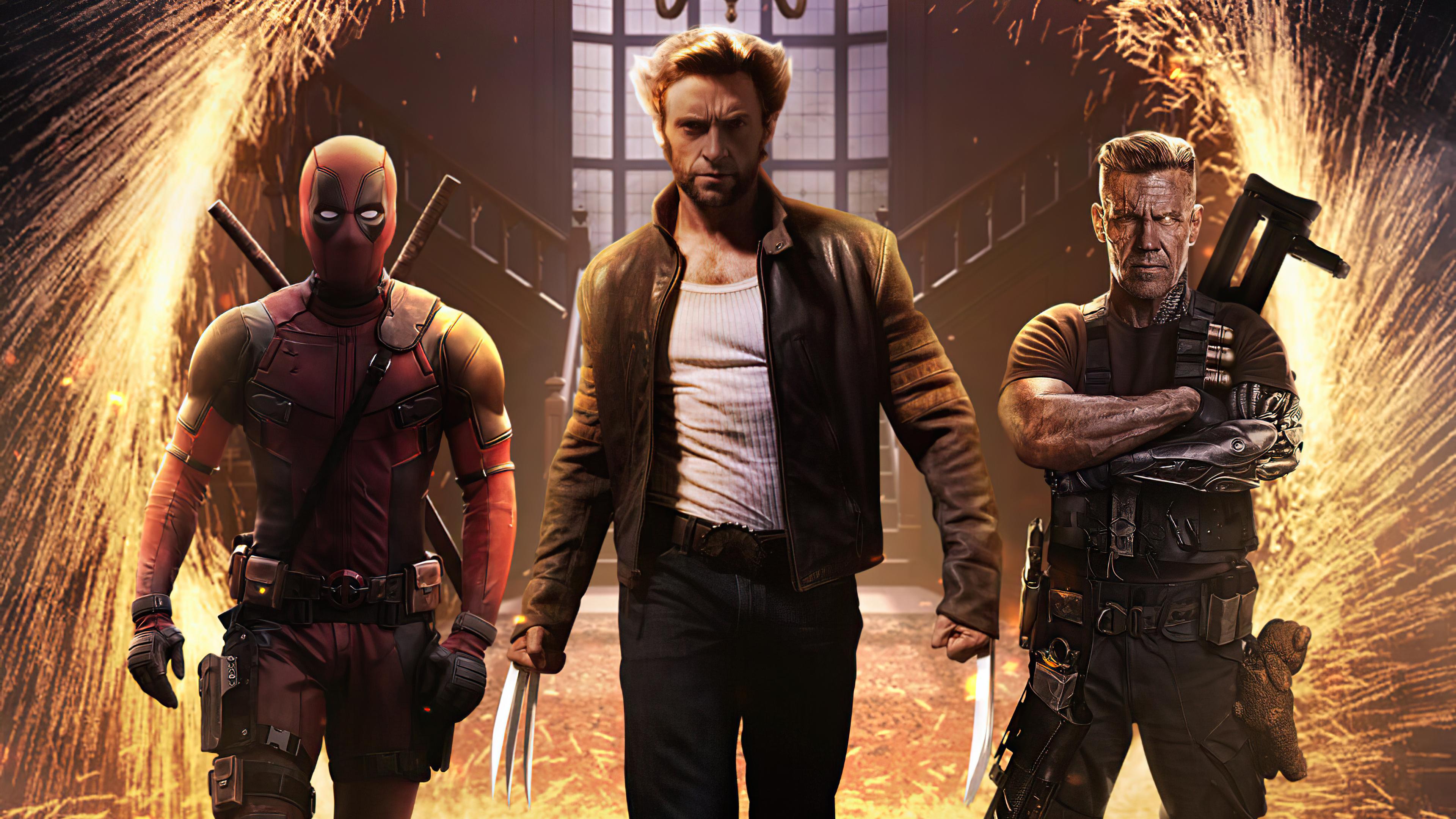 Fondos de pantalla Wolverine Cable y Deadpool