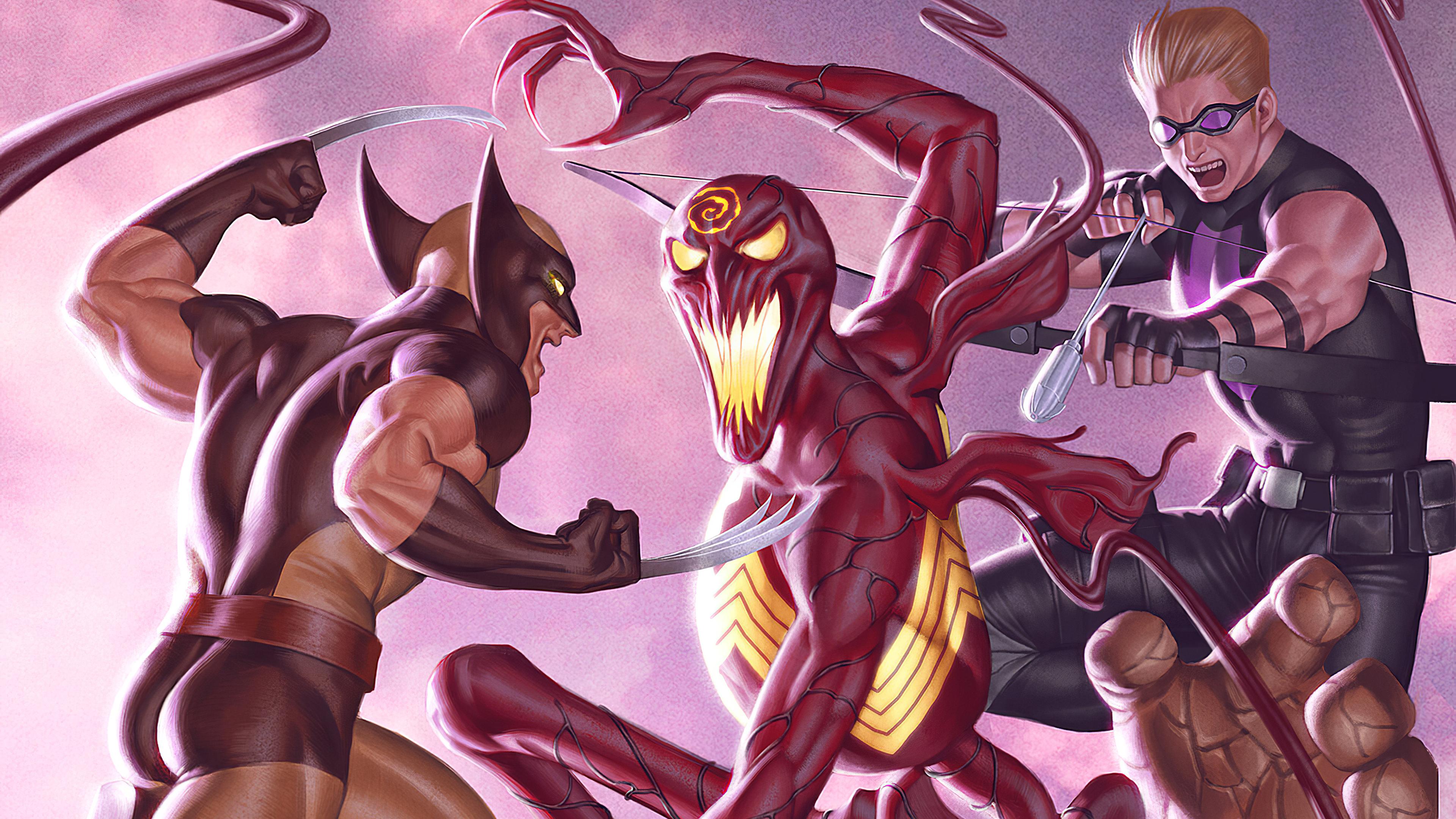 Fondos de pantalla Wolverine contra Carnage