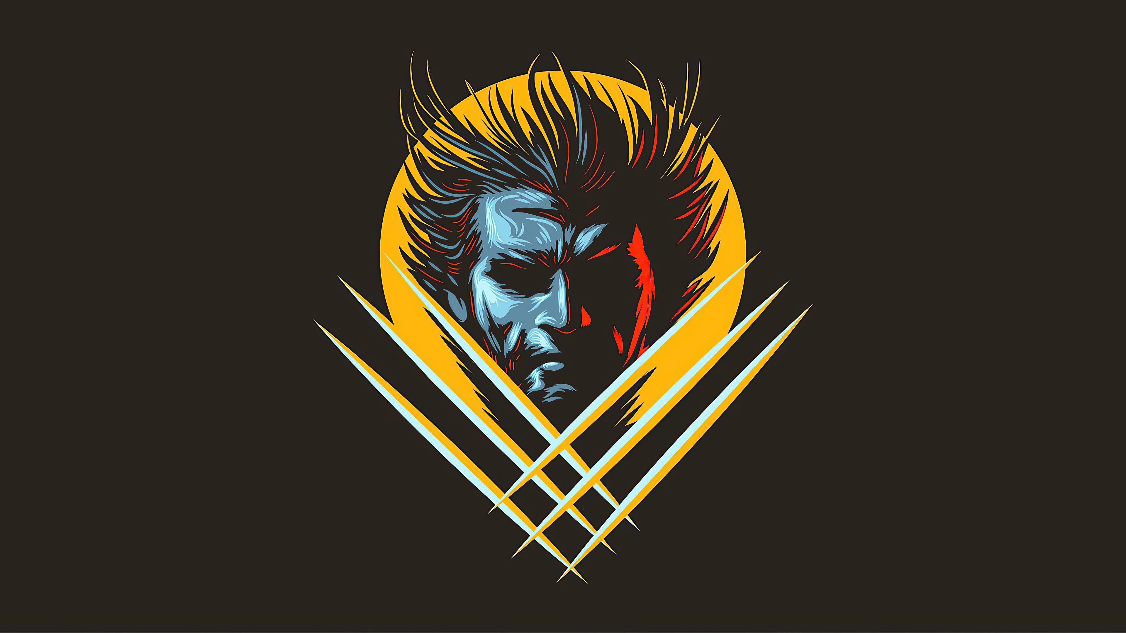 Wolverine Minimalist Style Wallpaper 4k Ultra HD ID:6231
