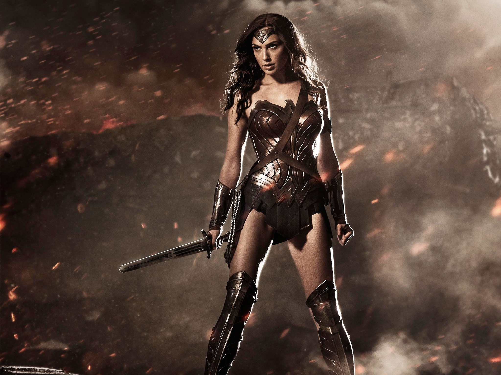 Wallpaper Wonder woman In Batman vs Superman