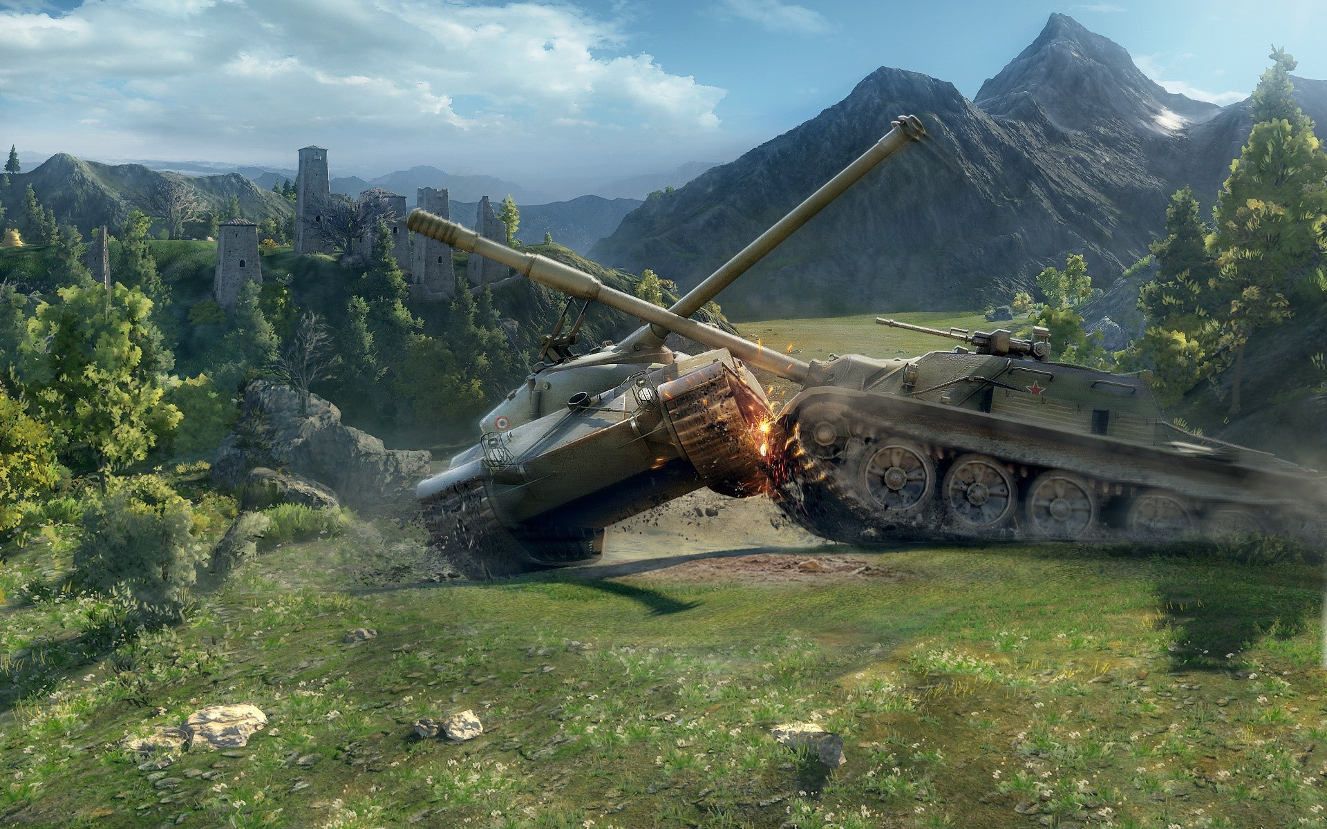 Wallpaper World of Tanks Battle