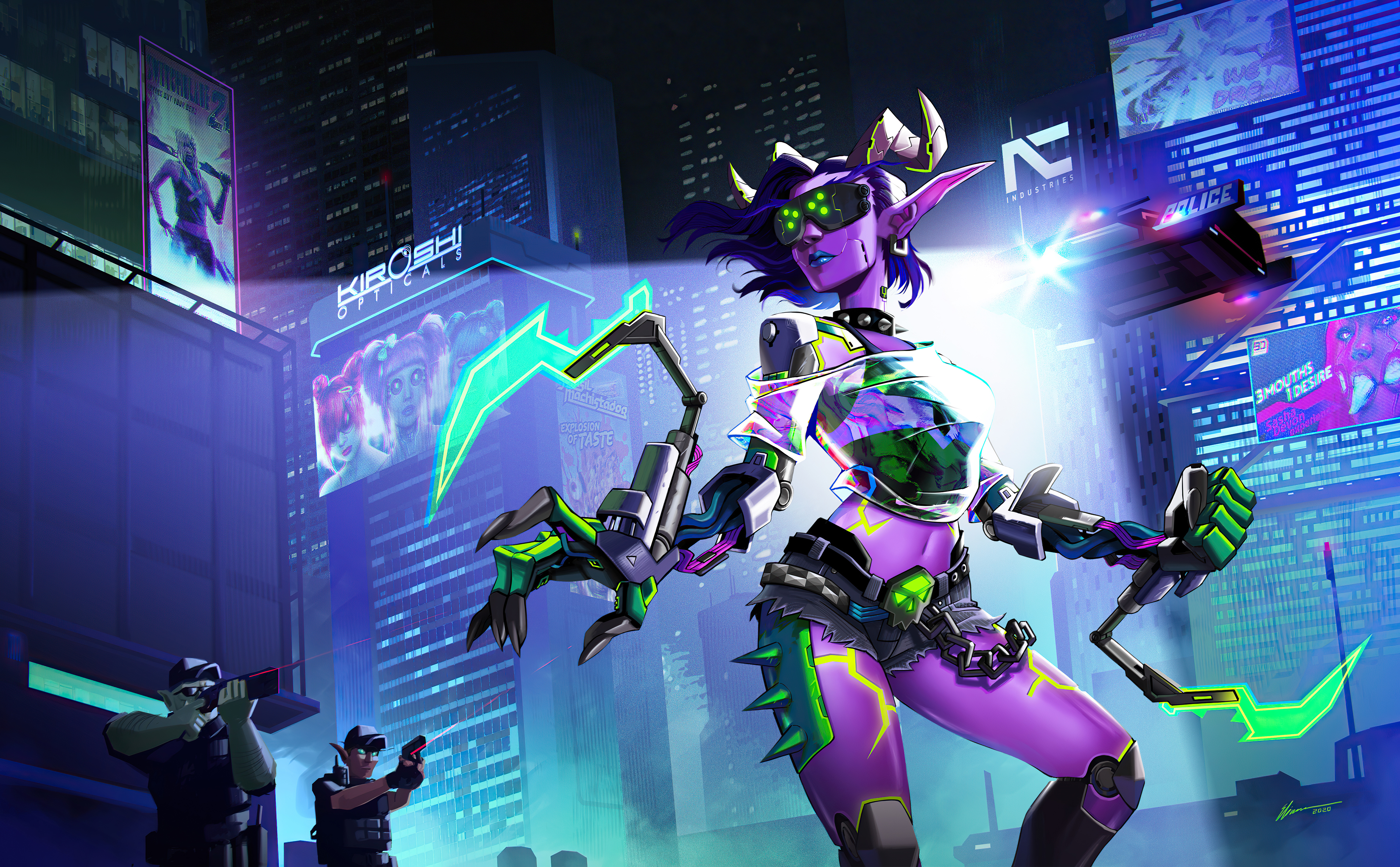 Fondos de pantalla World of Warcraft X Cyberpunk 2077