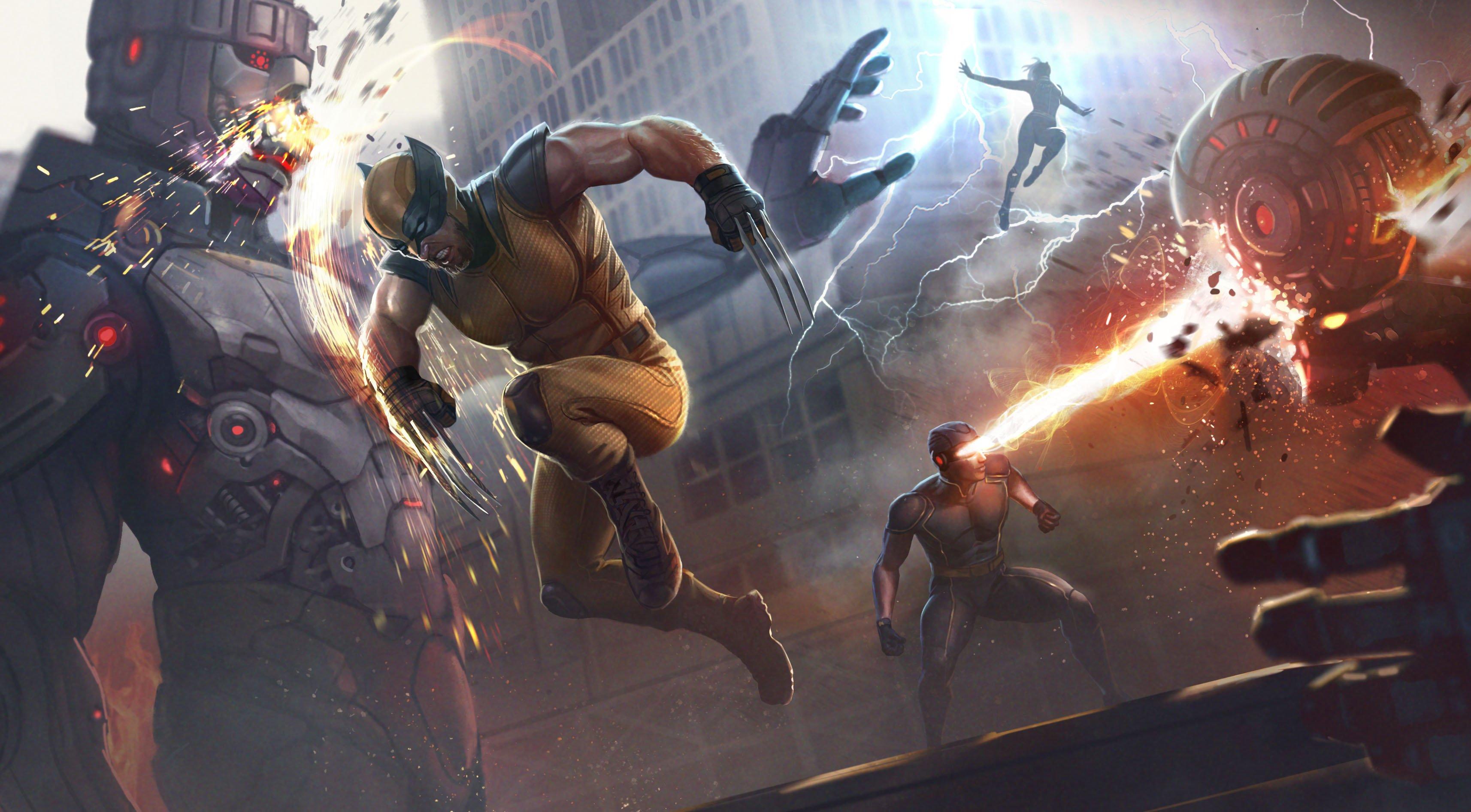 Wallpaper X Men in battle