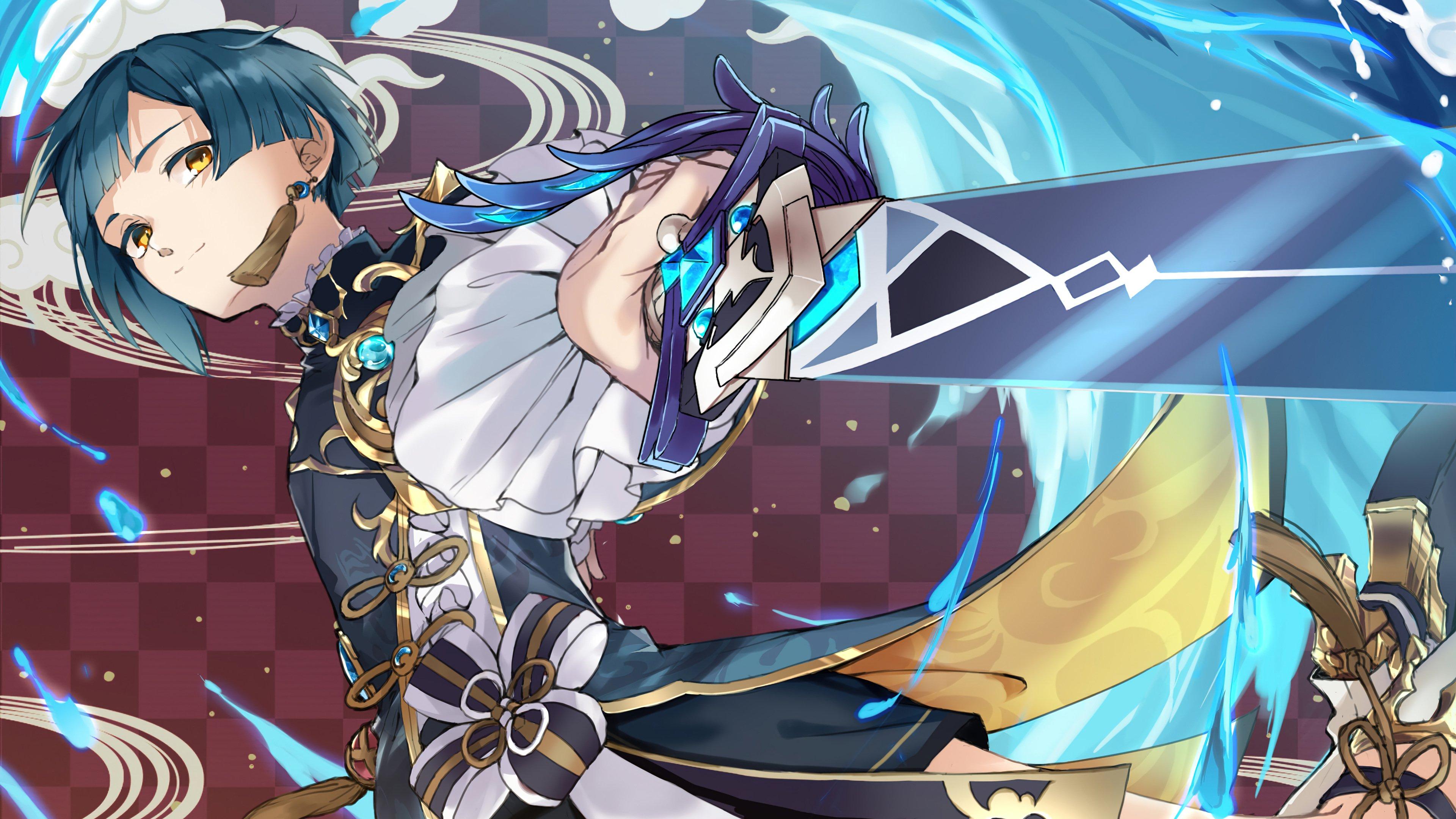 Anime Wallpaper Xingqiu Genshin Impact Art