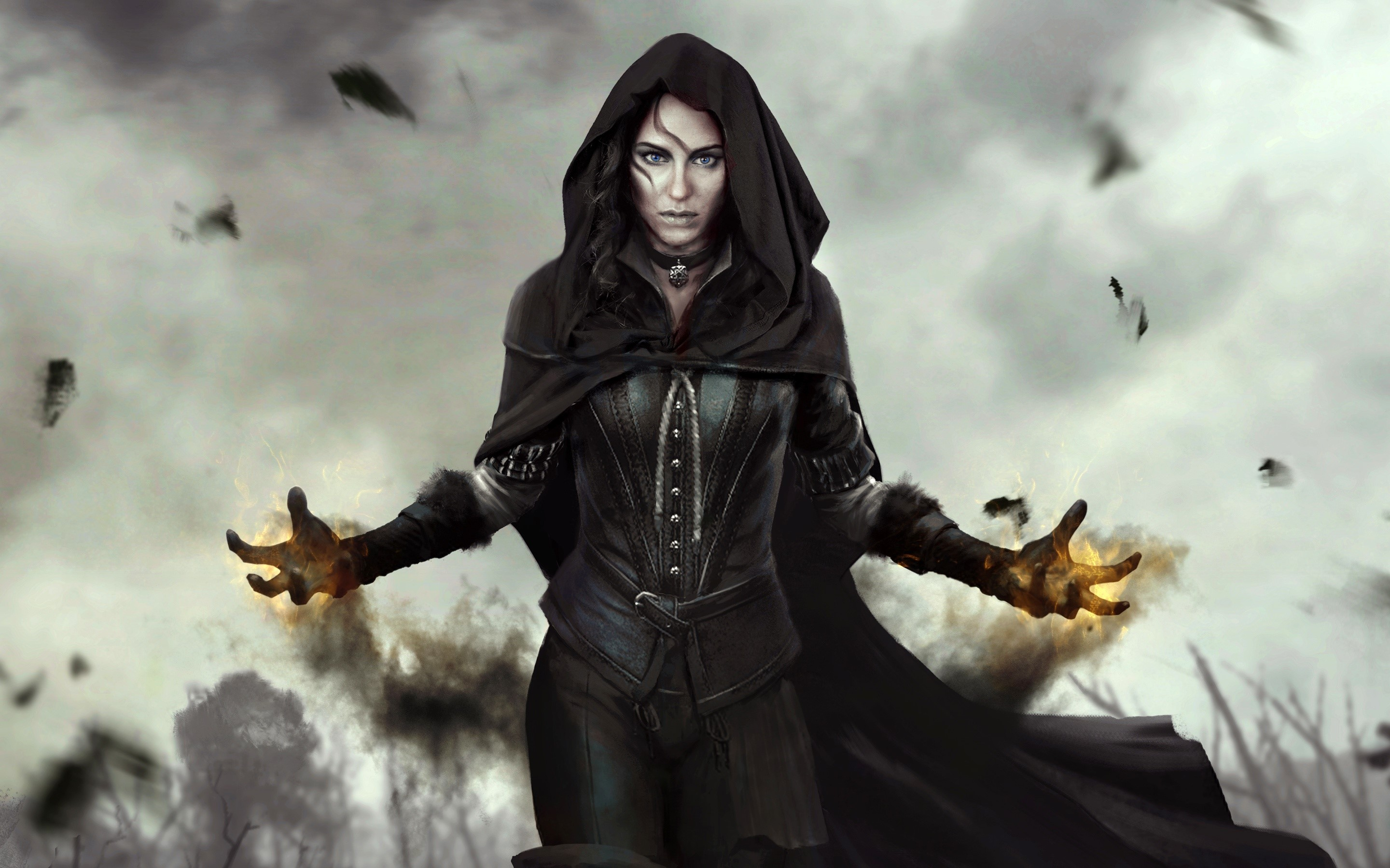 Wallpaper Yennefer from The Witcher 3 Wild Hunt