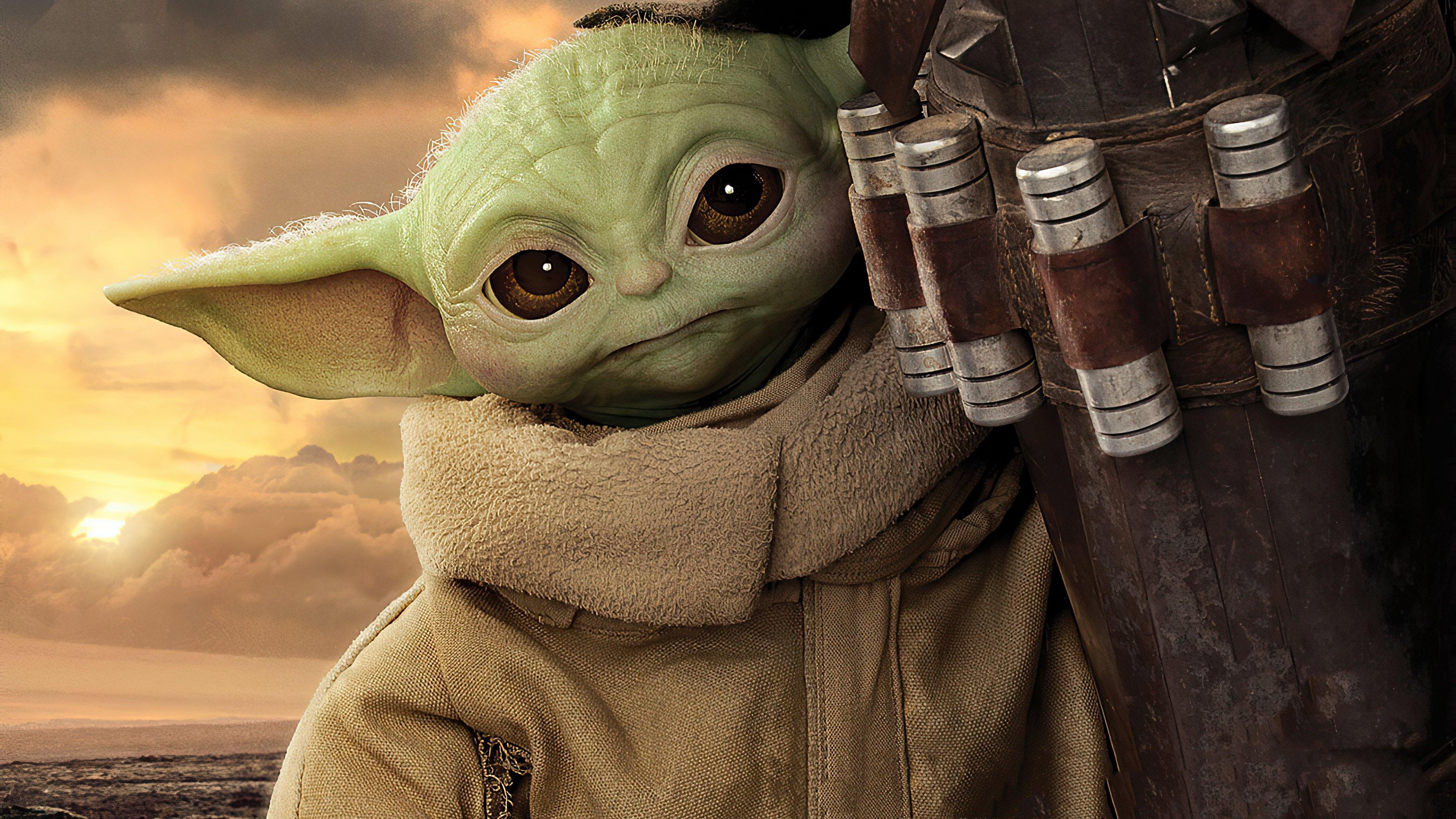 Fondos de pantalla Yoda bebé en El Mandaloriano
