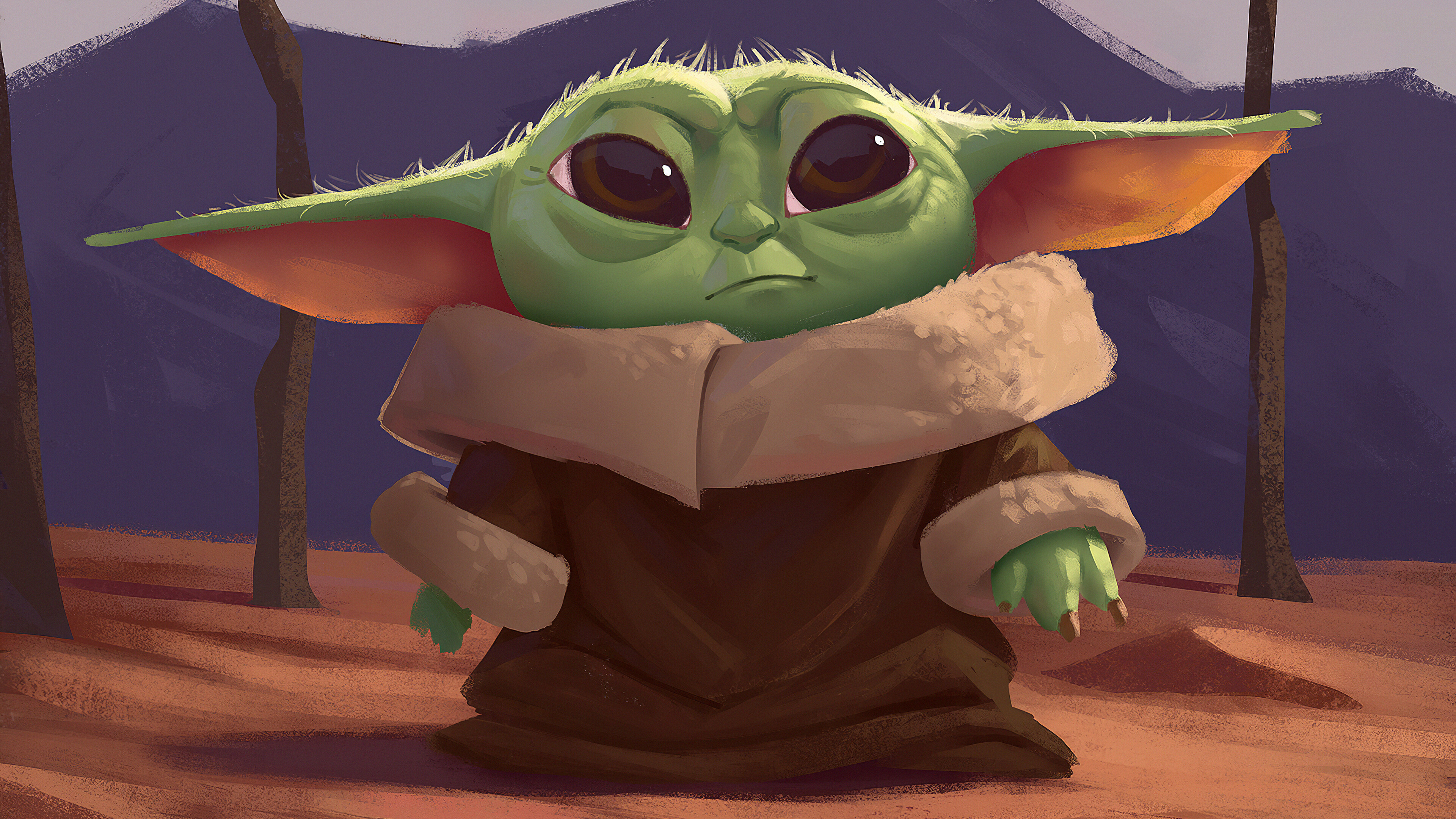Baby Yoda Fanart Wallpaper 4k Ultra HD ID:4583