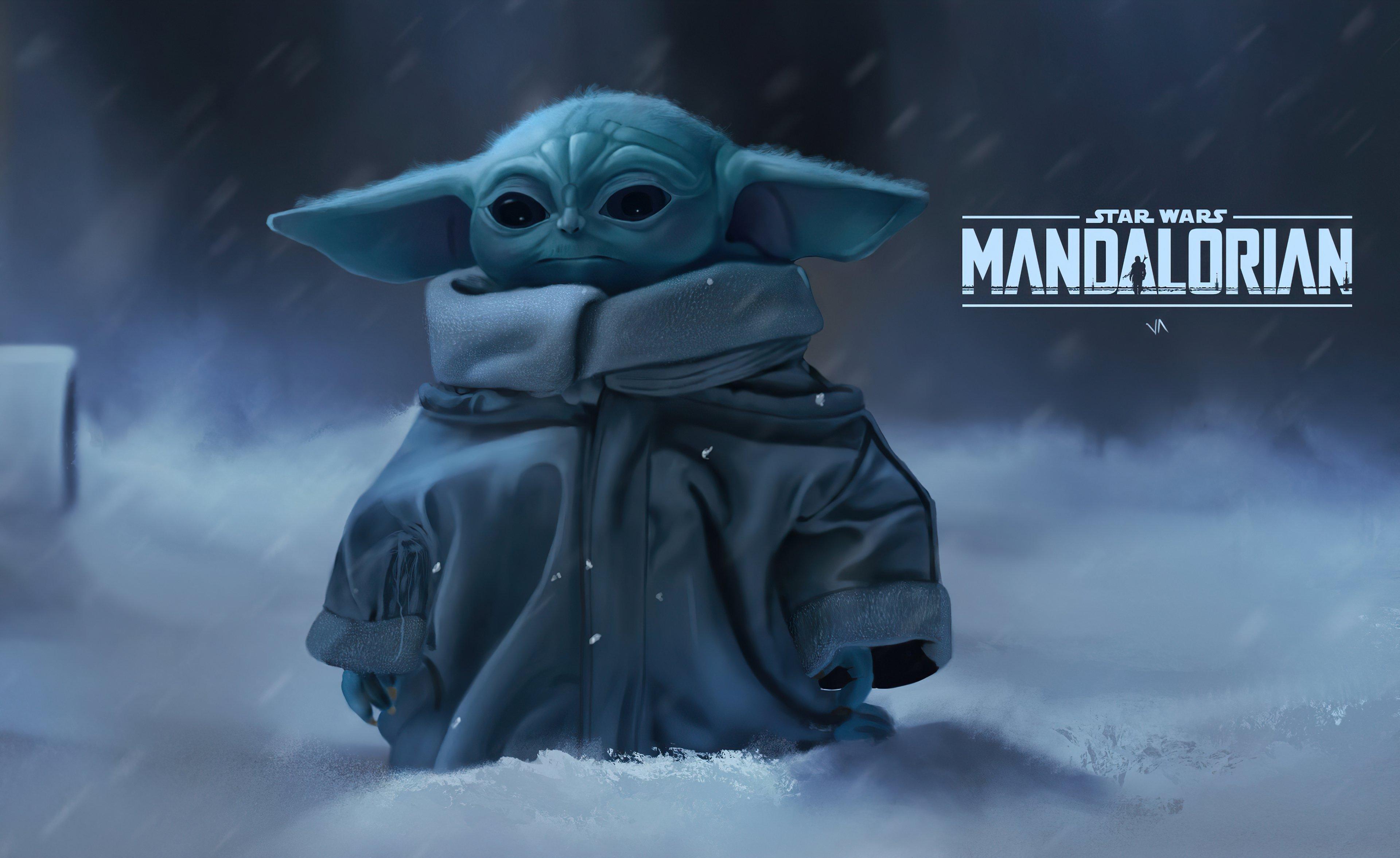 Fondos de pantalla Yoda Bebé Mandaloriano
