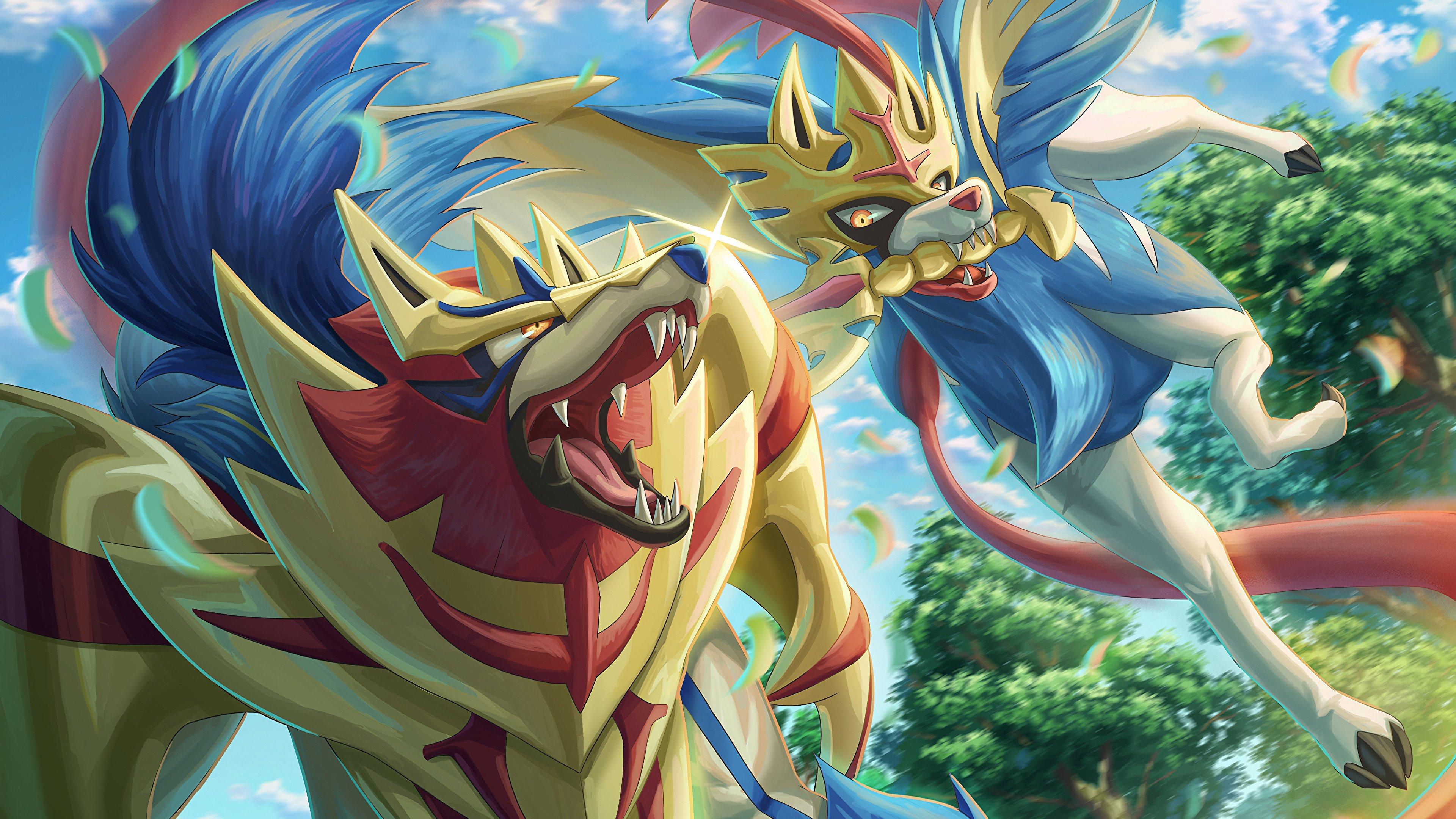 Fondos de pantalla Anime Zamazenta y Zarcian de Pokemon Espada Pokemon Escudo
