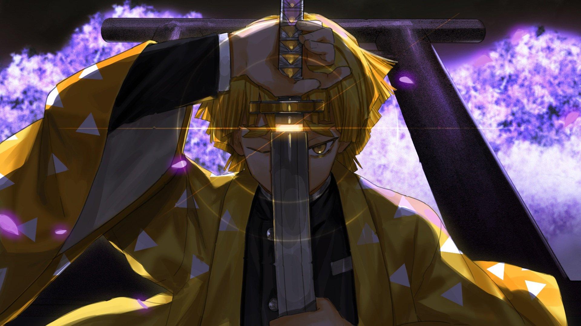 Fondos de pantalla Anime Zenitsu Agatsuma personaje de Guardianes de la noche